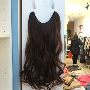 """Two Sets 24"""" Fish line band halo hair extension"""